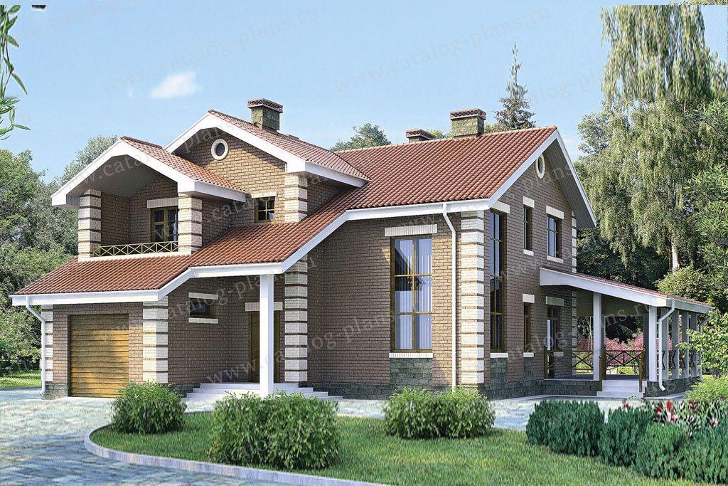 Проект жилой дом #51-72 материал - газобетон, стиль европейский