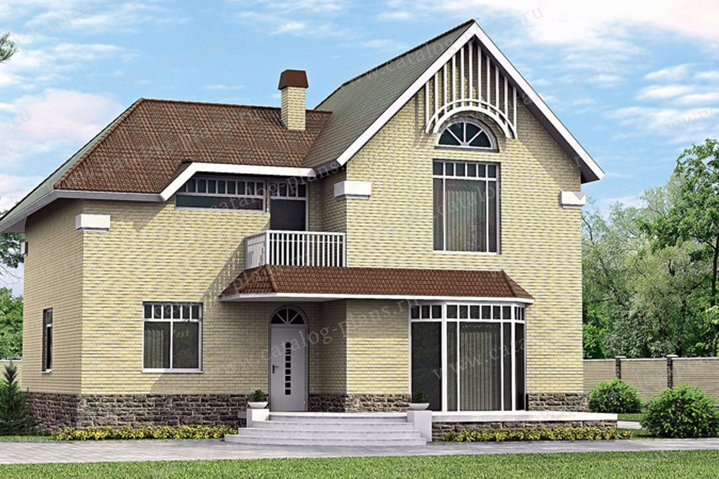 Проект жилой дом #51-48 материал - газобетон, стиль европейский