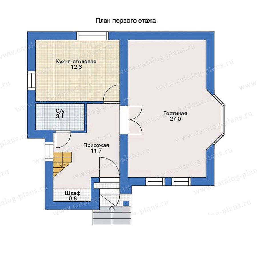 План 1-этажа проекта 51-52