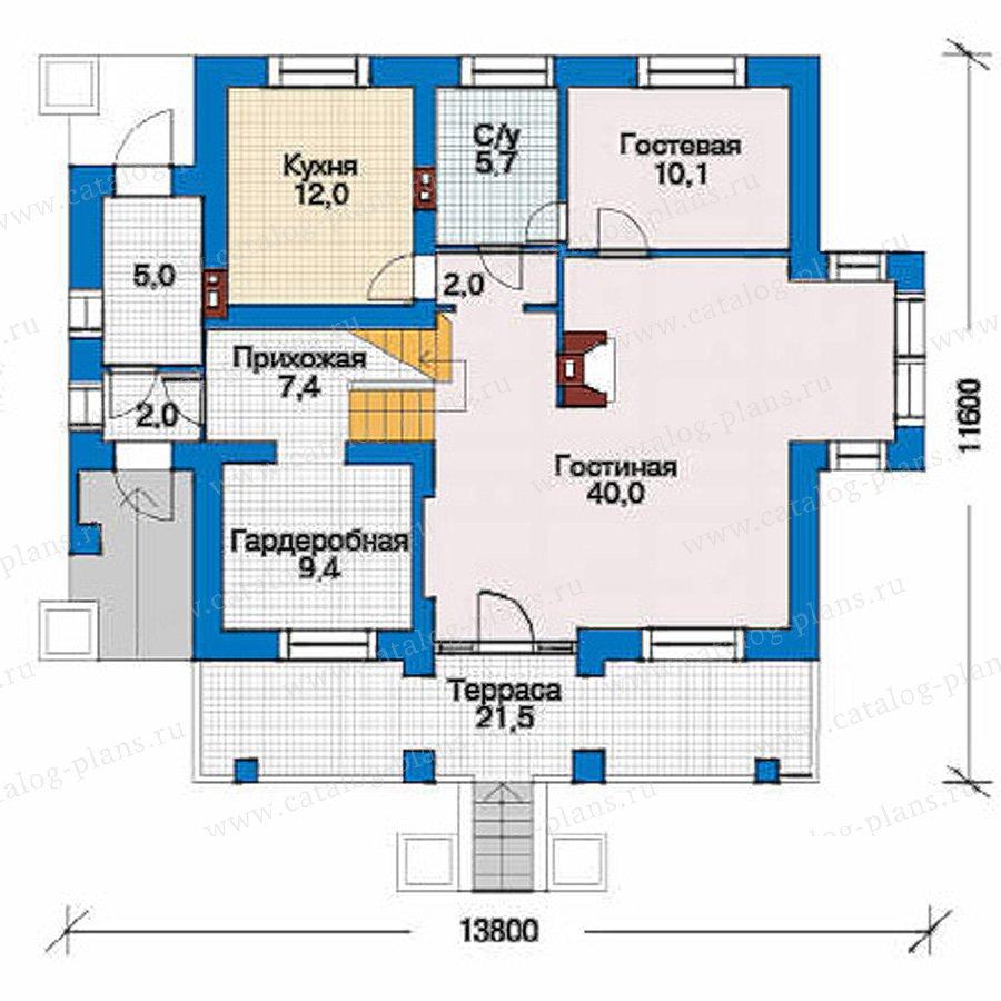 План 1-этажа проекта 51-95