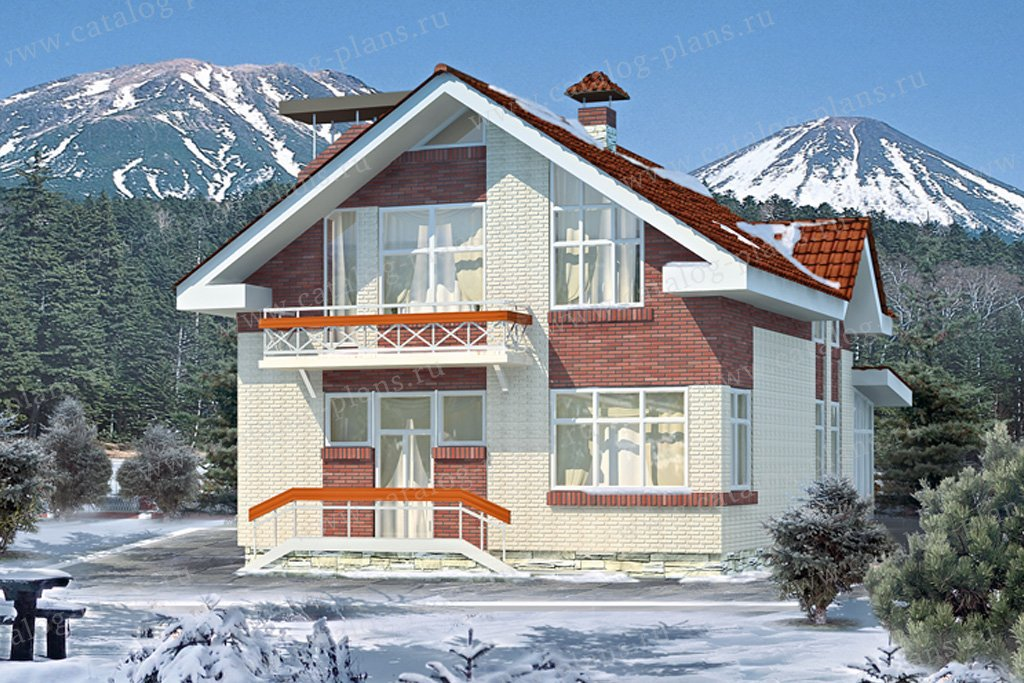 Проект жилой дом #51-53 материал - кирпич, стиль европейский