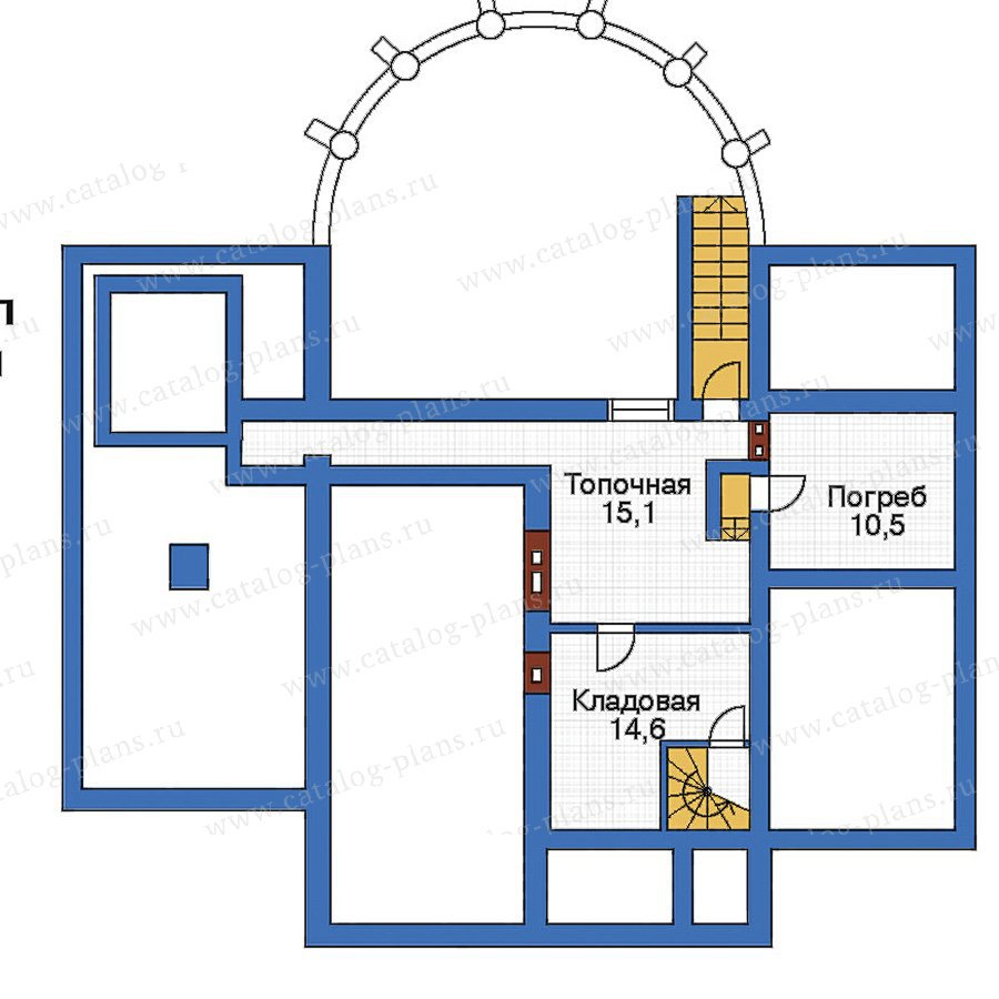План 1-этажа проекта 51-44