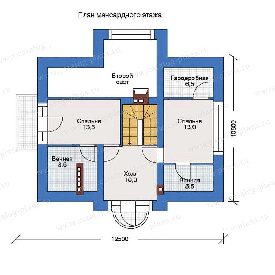 План 2-этажа проекта 51-68