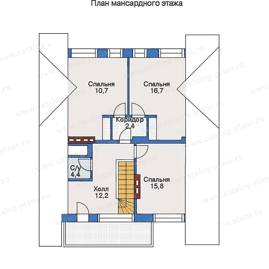 План 2-этажа проекта 51-53