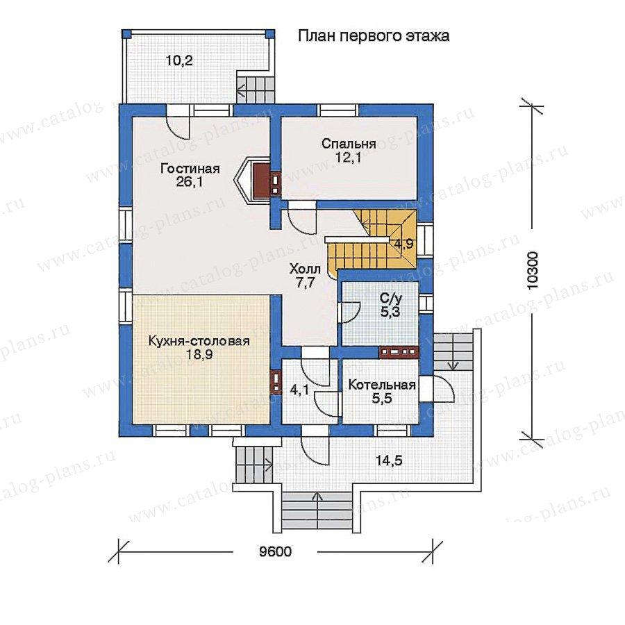 План 1-этажа проекта 52-07