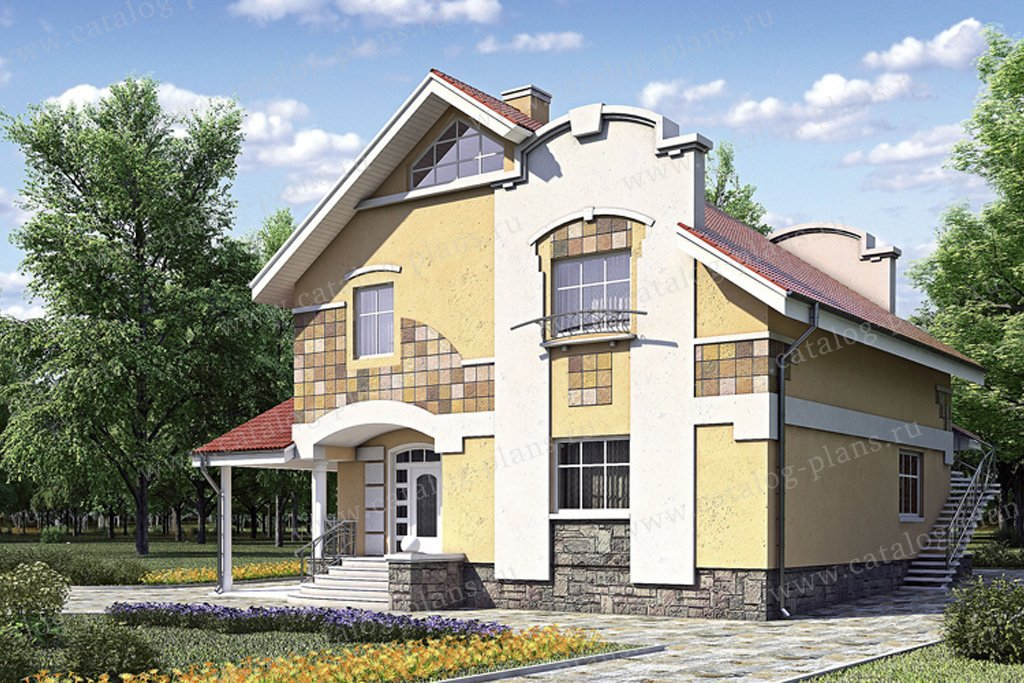 Проект жилой дом #52-15 материал - газобетон, стиль современный