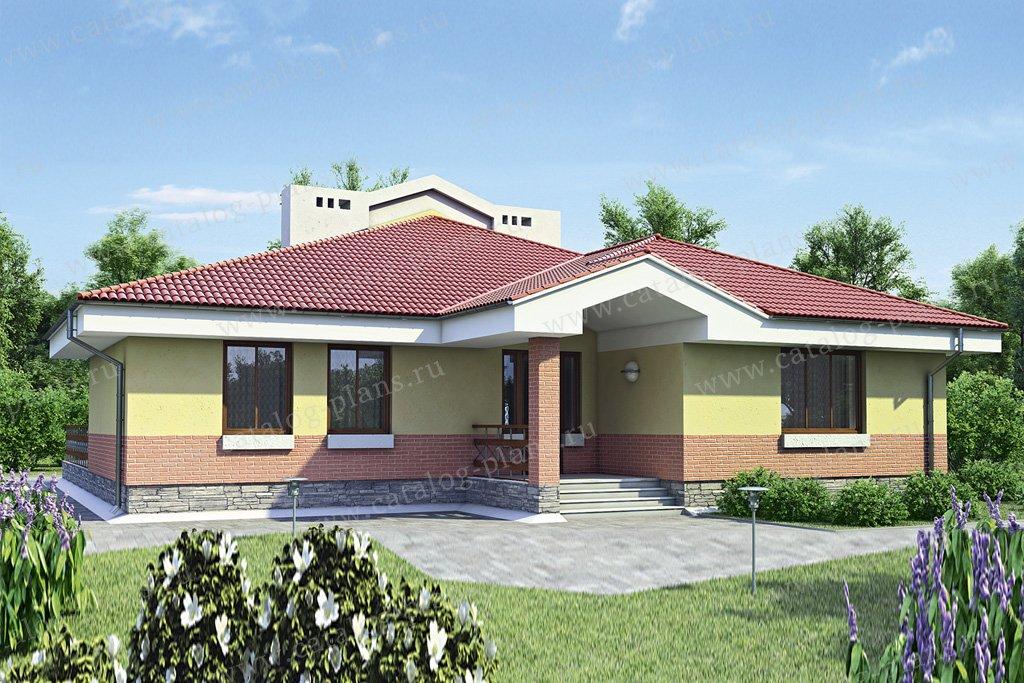 Проект жилой дом #52-67 материал - газобетон, стиль европейский