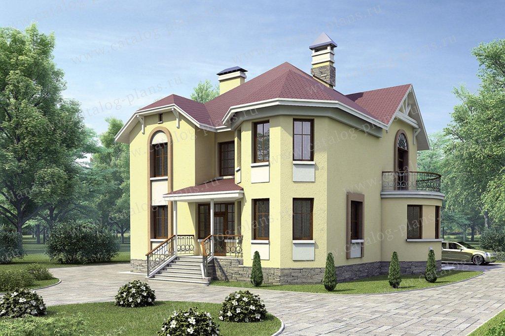 Проект жилой дом #52-28 материал - газобетон, стиль европейский