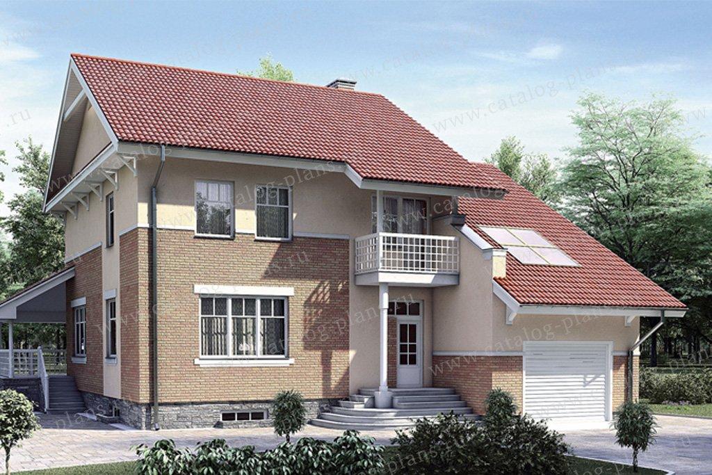 Проект жилой дом #52-18 материал - газобетон, стиль европейский