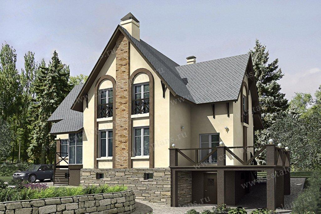 Проект жилой дом #52-29 материал - газобетон, стиль европейский
