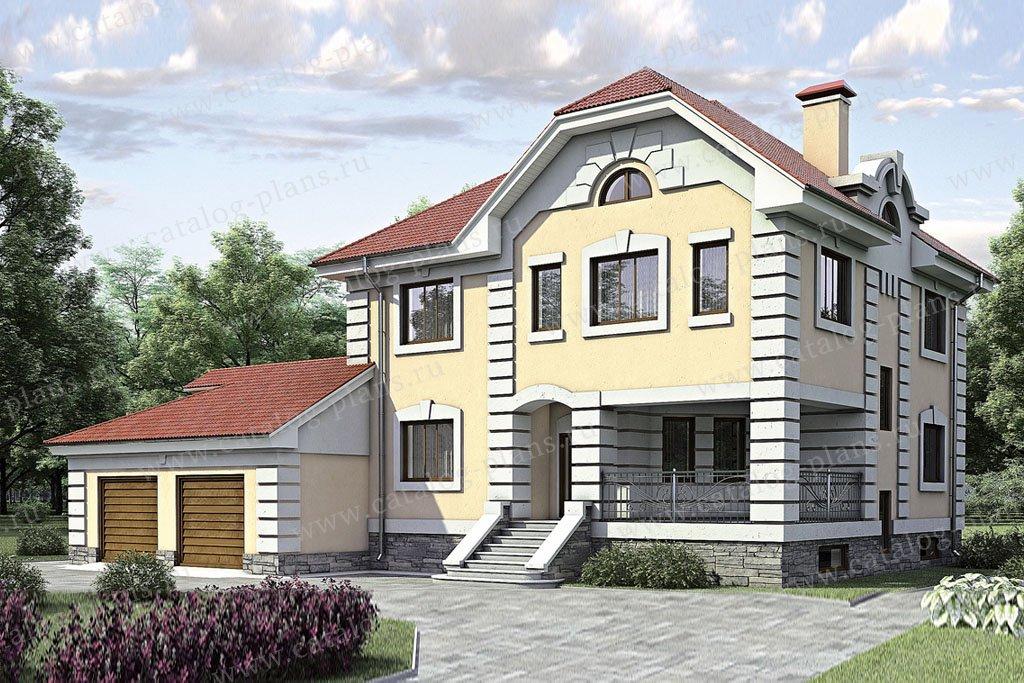 Проект жилой дом #52-27 материал - газобетон, стиль классический