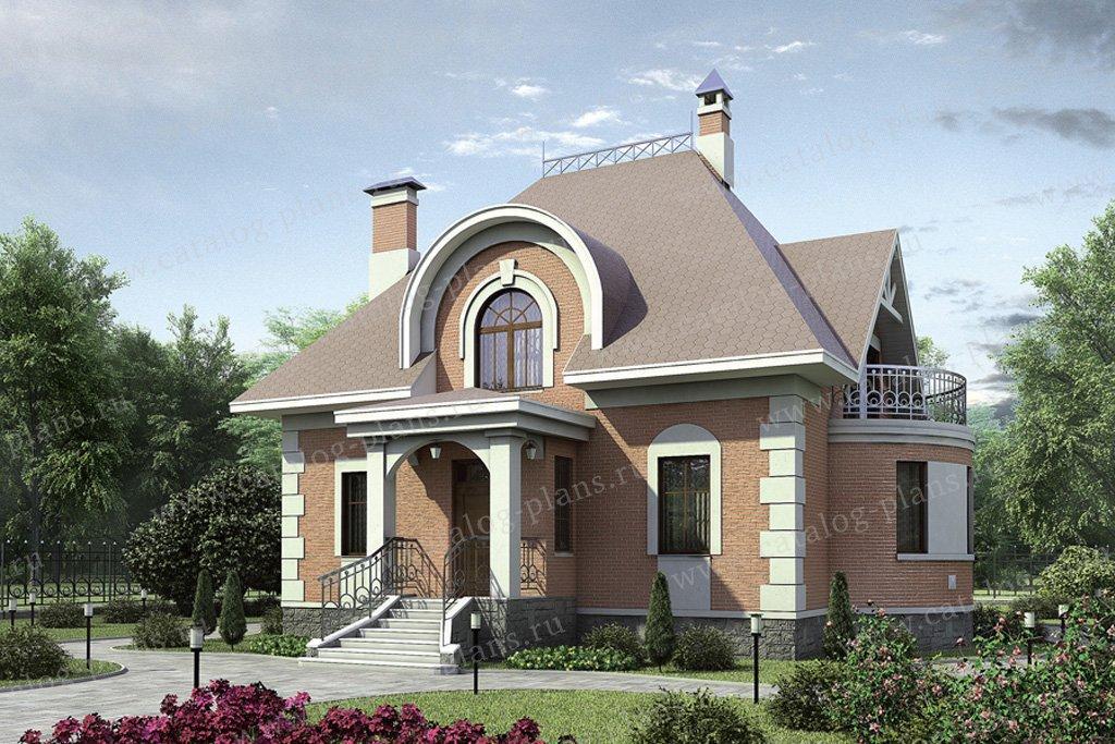 Проект жилой дом #52-62 материал - газобетон, стиль классический