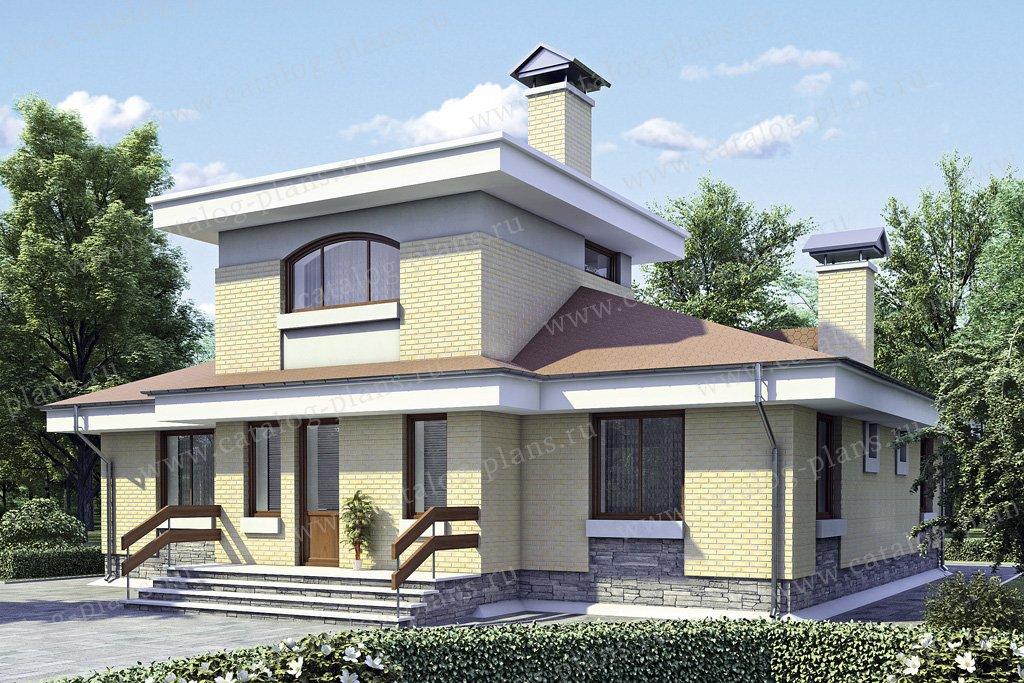 Проект жилой дом #52-56 материал - газобетон, стиль европейский