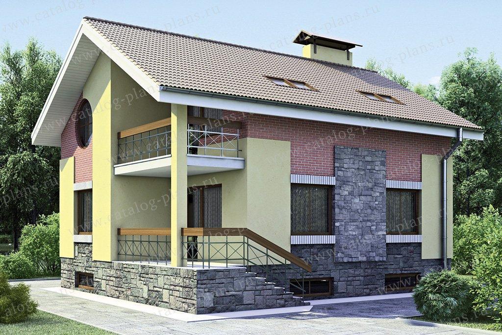 Проект жилой дом #52-53 материал - газобетон, стиль современный