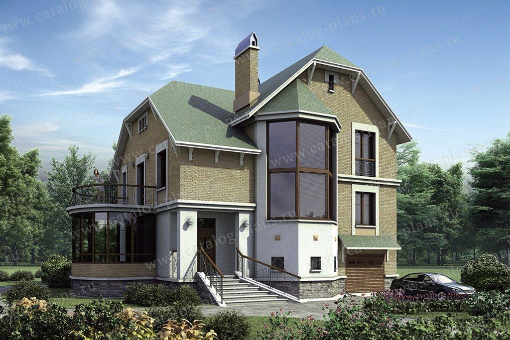 Проект жилой дом #52-60 материал - газобетон, стиль европейский
