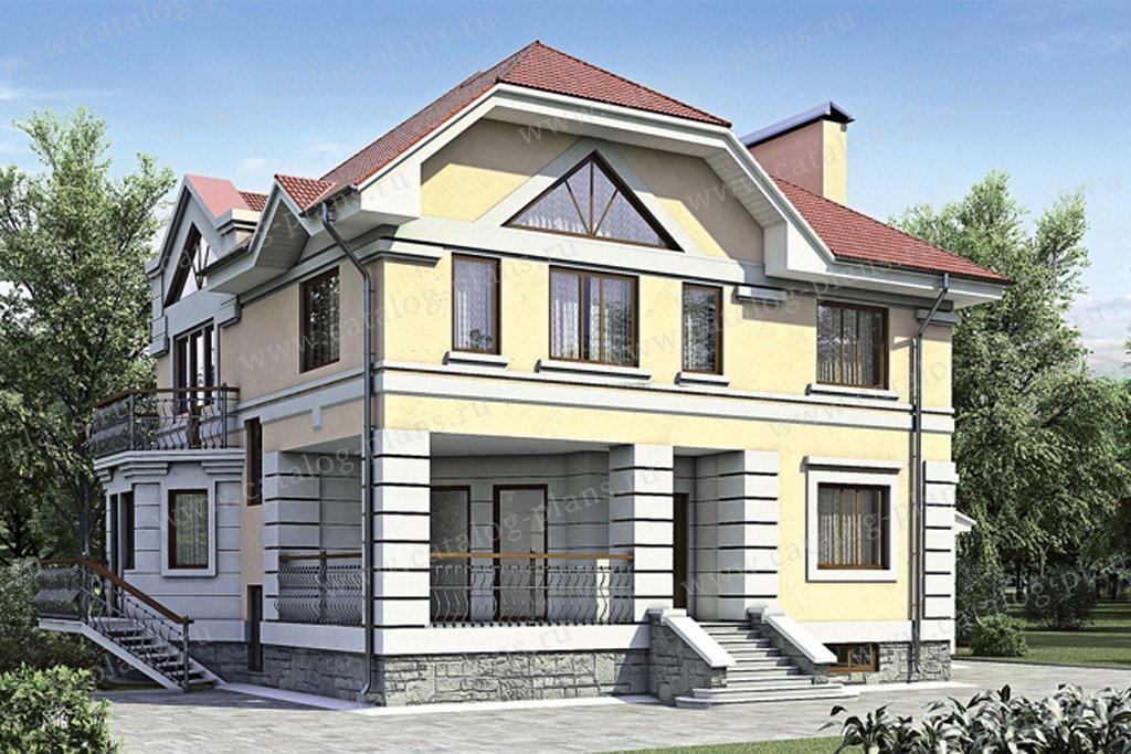 Проект жилой дом #52-19 материал - газобетон, стиль классический