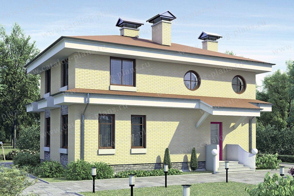 Проект жилой дом #52-57 материал - газобетон, стиль европейский