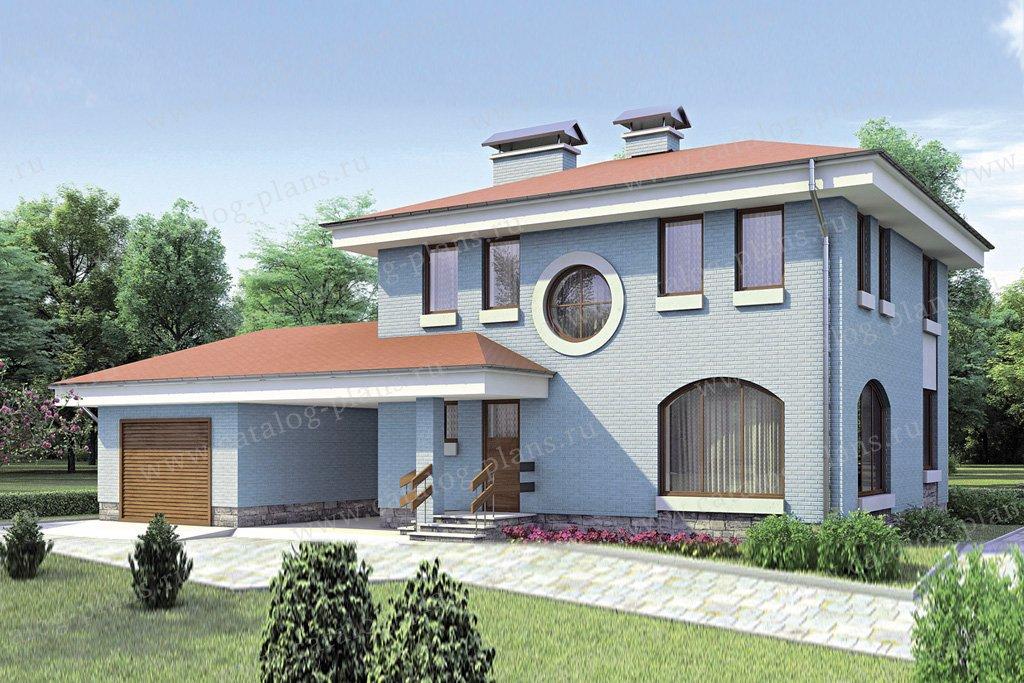 Проект жилой дом #52-55 материал - газобетон, стиль европейский