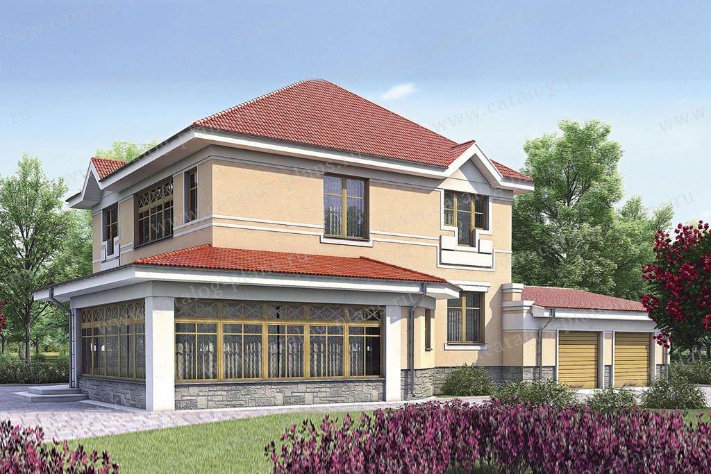 Проект жилой дом #52-24 материал - газобетон, стиль европейский