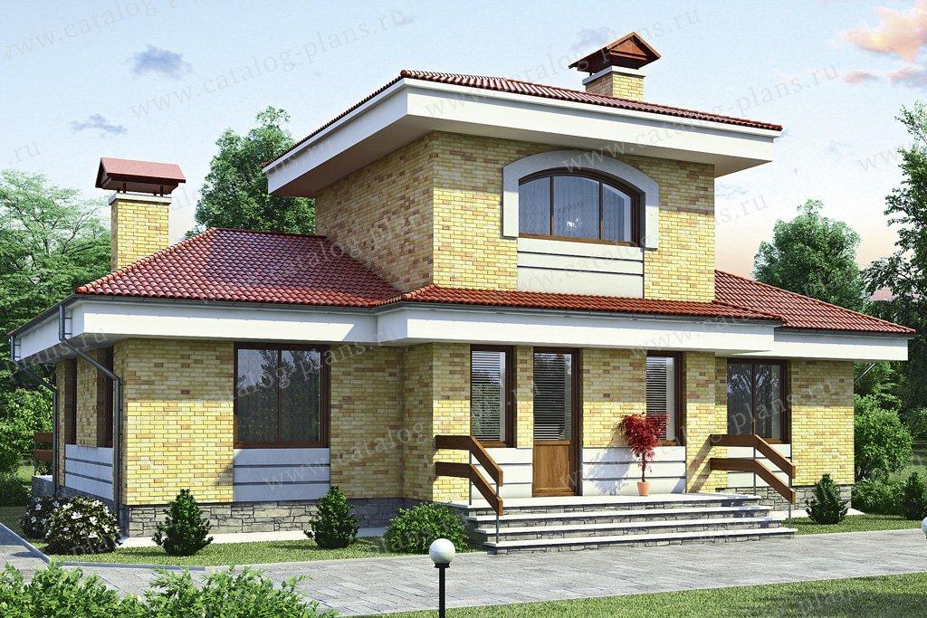 Проект жилой дом #52-66 материал - газобетон, стиль европейский