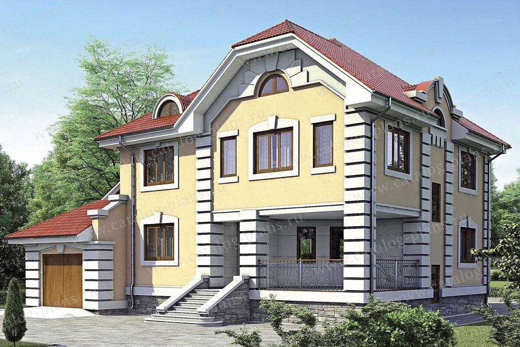 Проект жилой дом #52-16 материал - газобетон, стиль классический