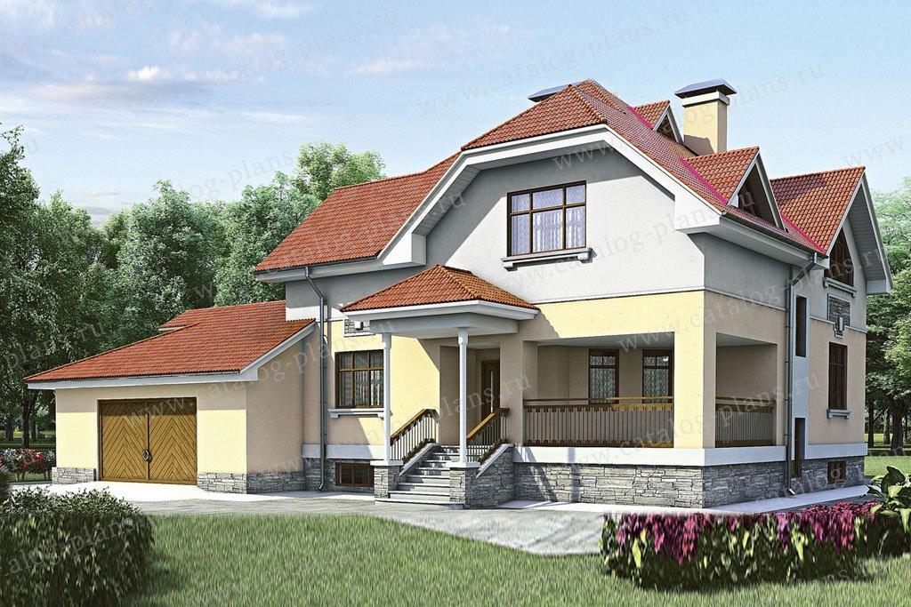Проект жилой дом #52-14 материал - газобетон, стиль голанский