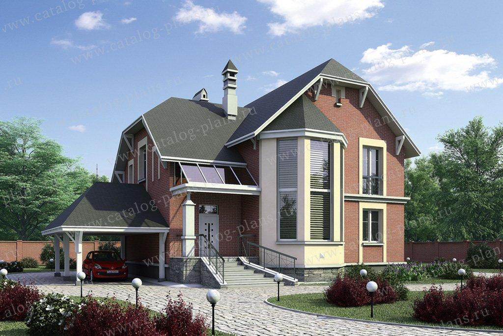 Проект жилой дом #52-44 материал - газобетон, стиль европейский
