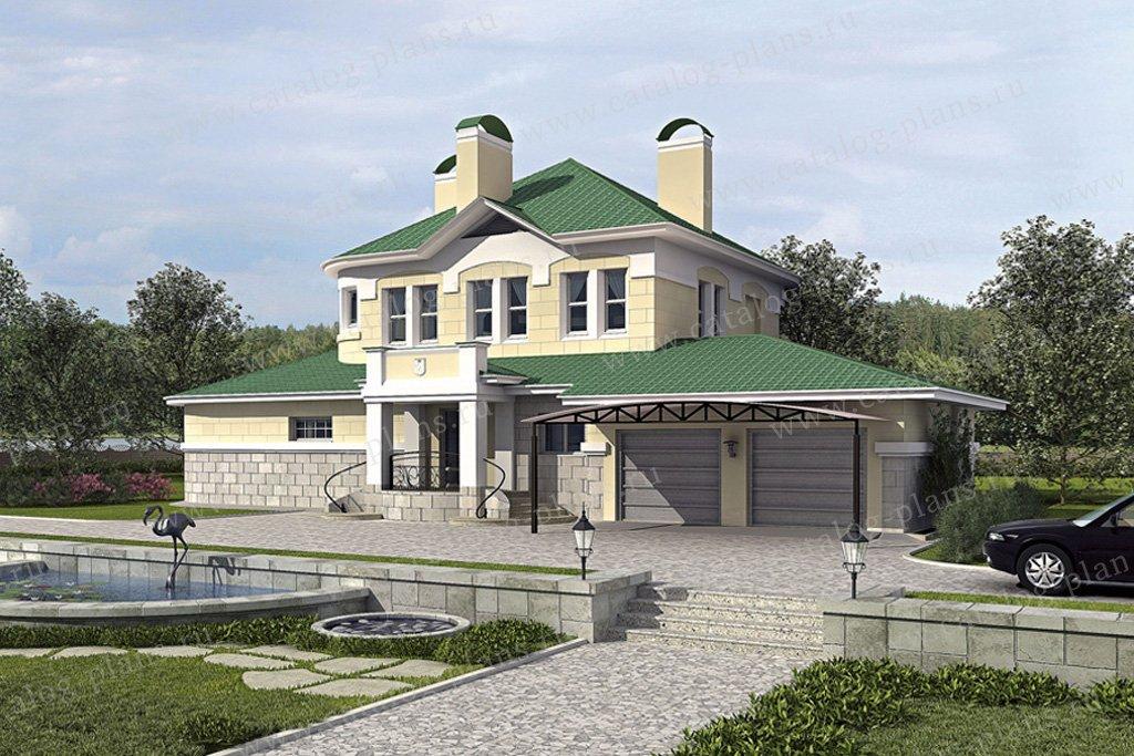 Проект жилой дом #52-99 материал - газобетон, стиль классический