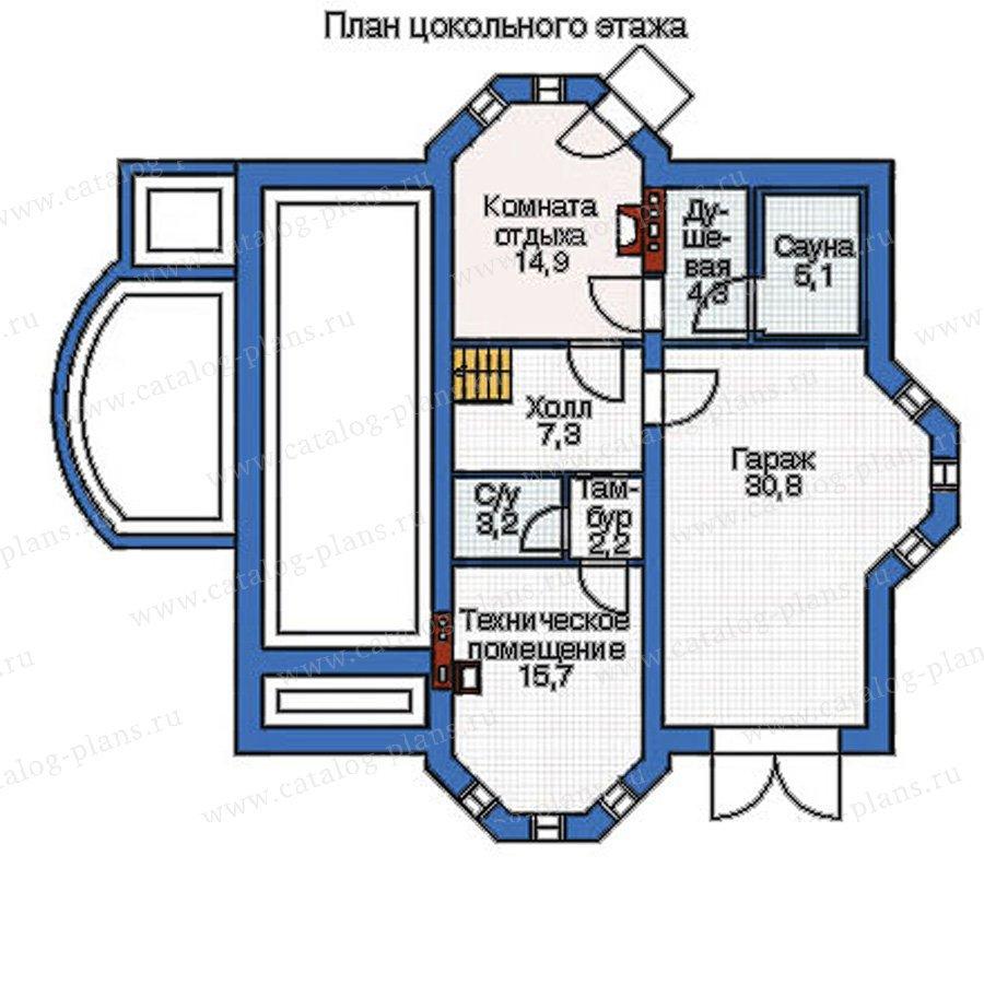 План 1-этажа проекта 52-60