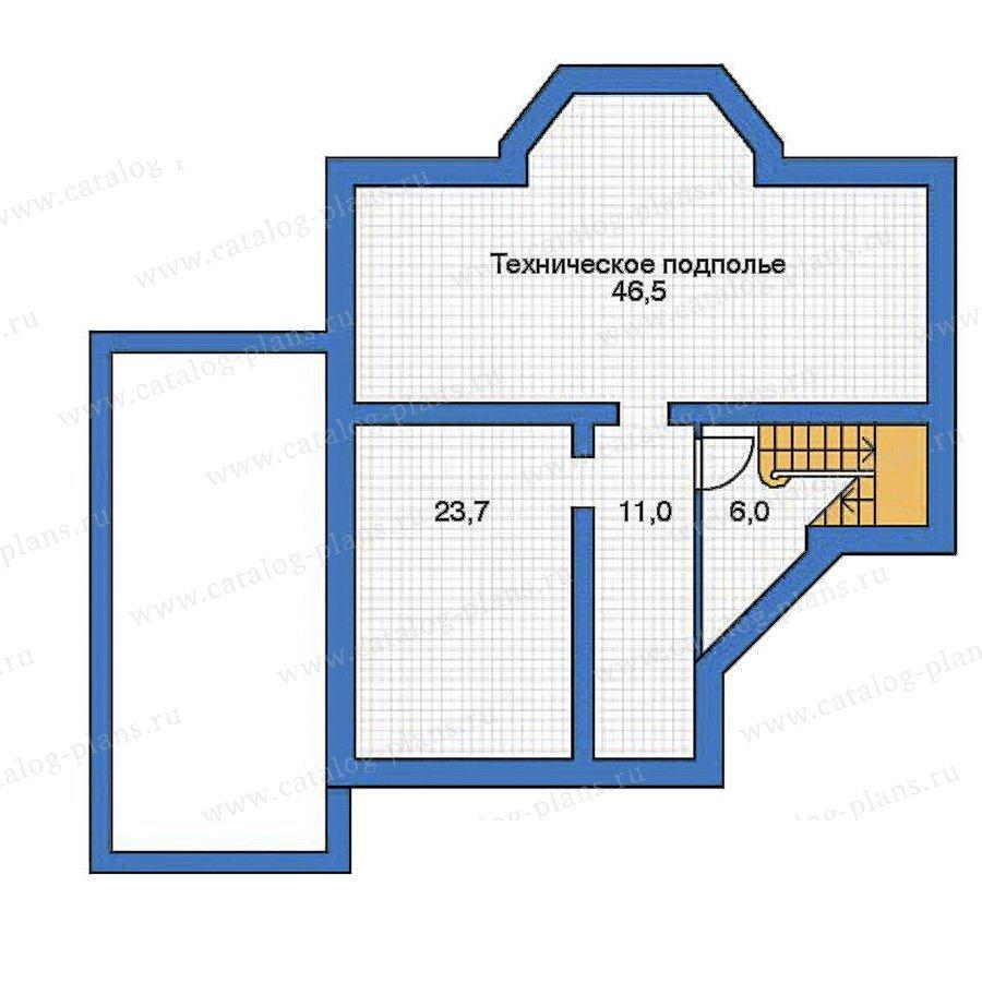 План 1-этажа проекта 52-16