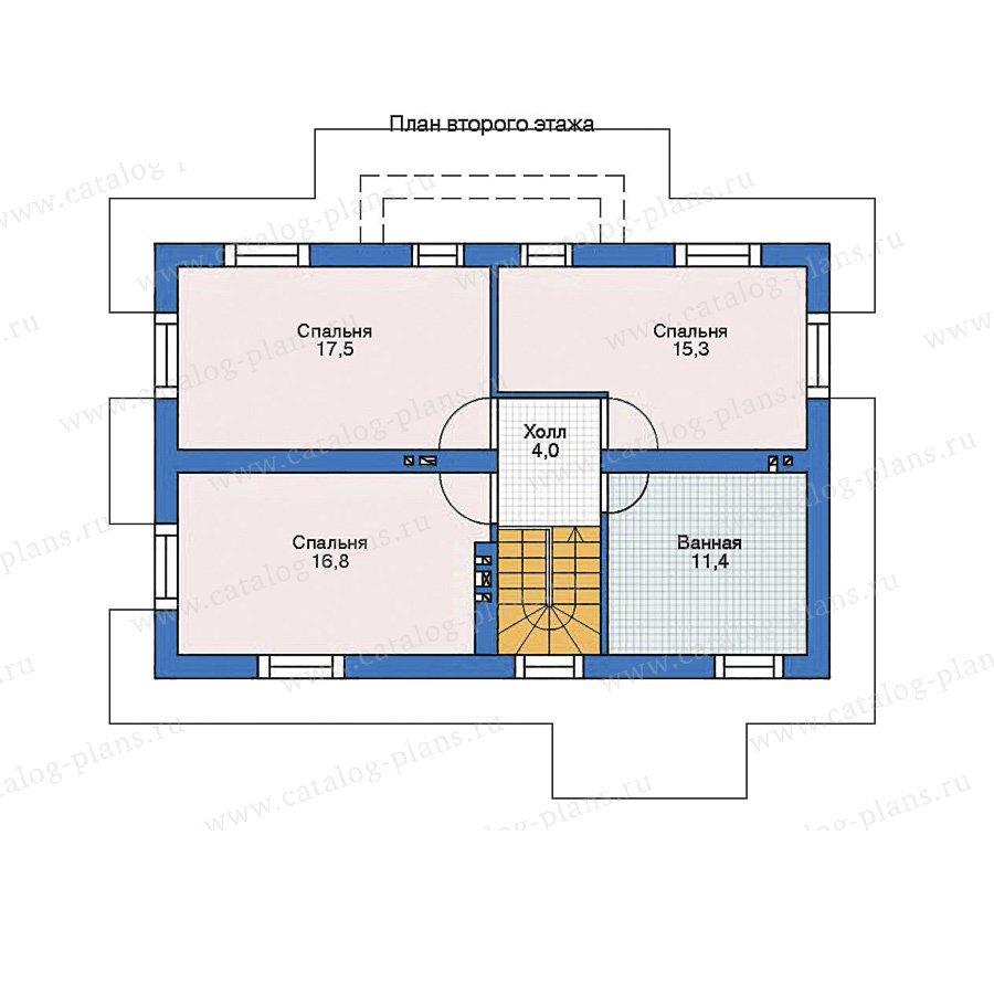 План 2-этажа проекта 52-57