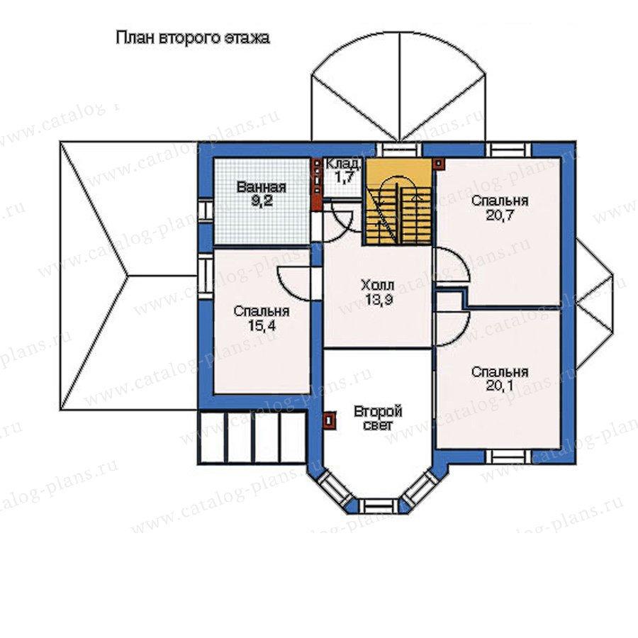 План 2-этажа проекта 52-44