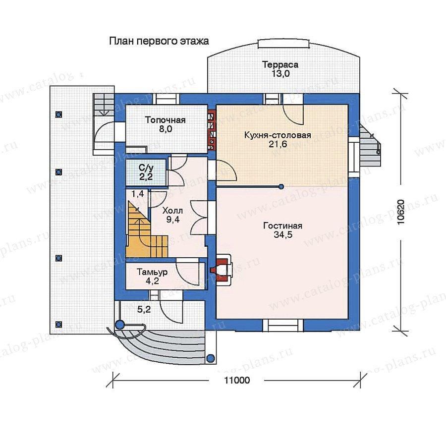 План 1-этажа проекта 52-15