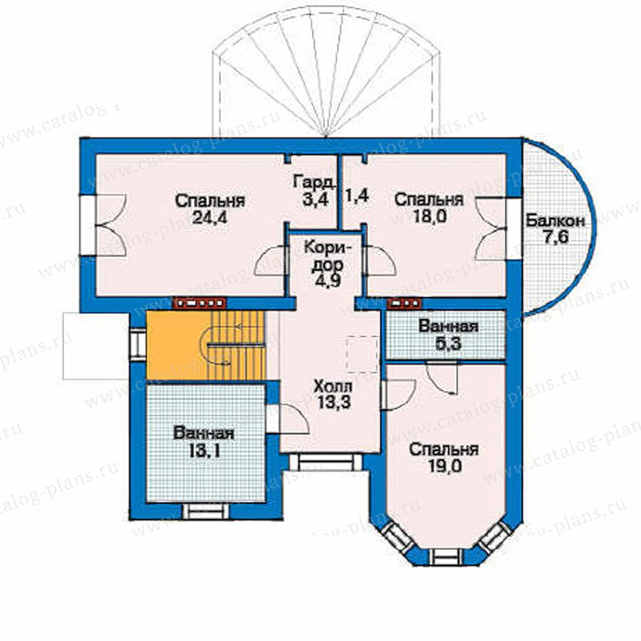 План 2-этажа проекта 52-28