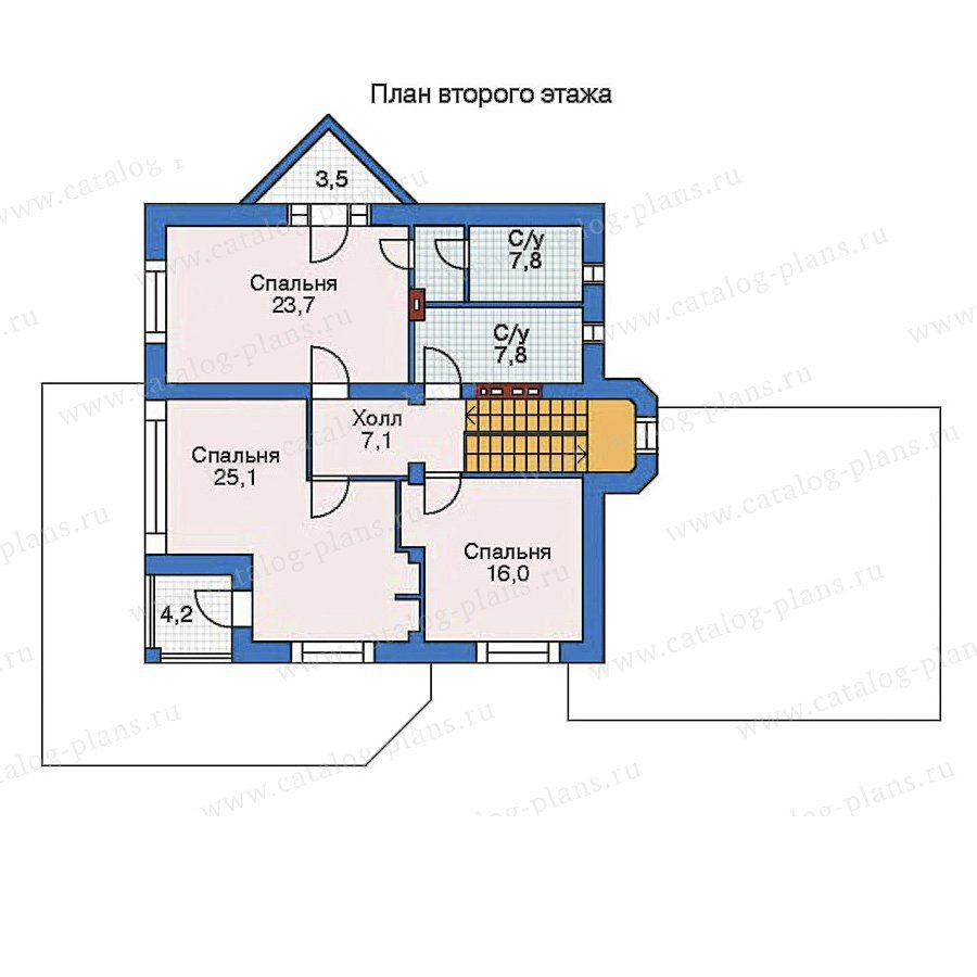План 3-этажа проекта 52-24