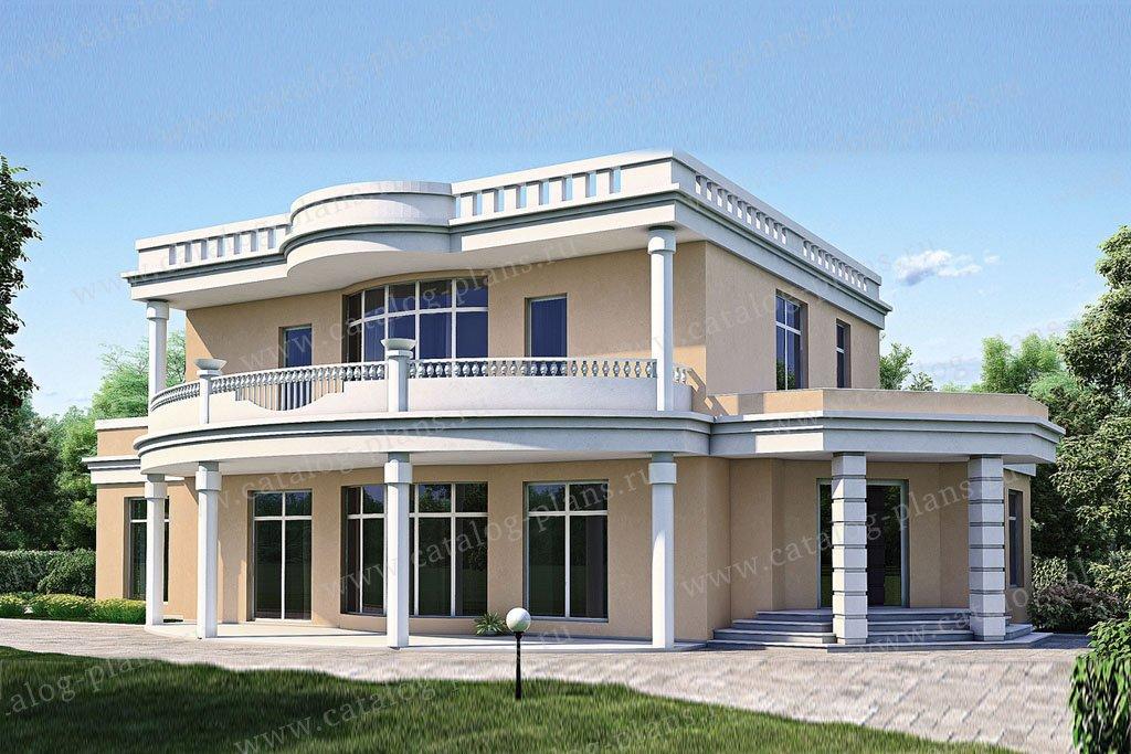 Проект жилой дом #52-89 материал - газобетон, стиль классический