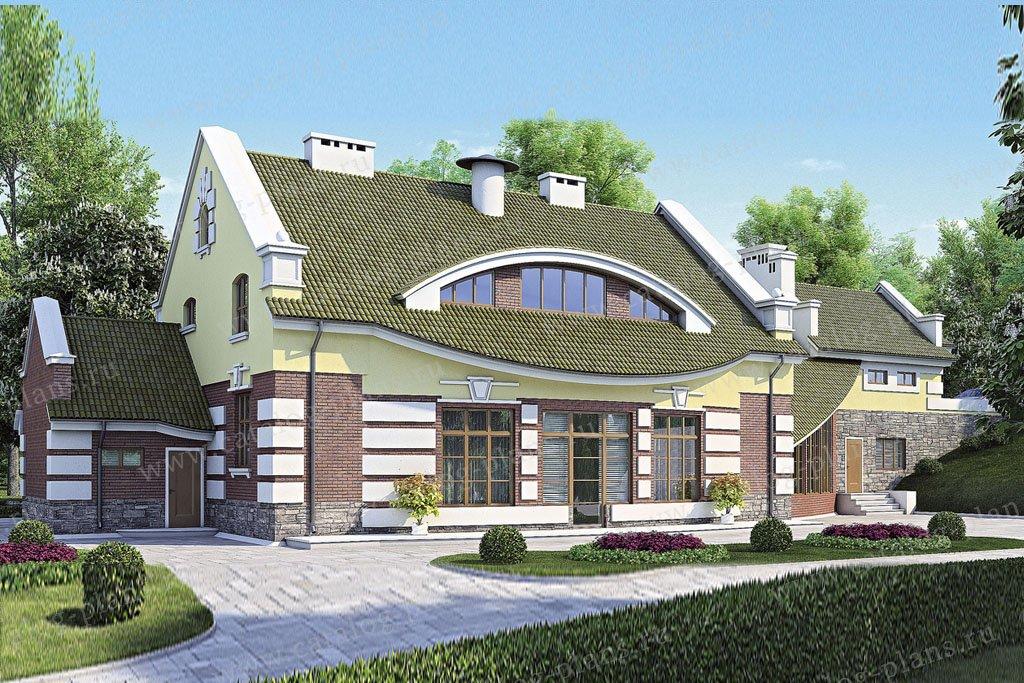 Проект жилой дом #52-92 материал - газобетон, стиль модерн