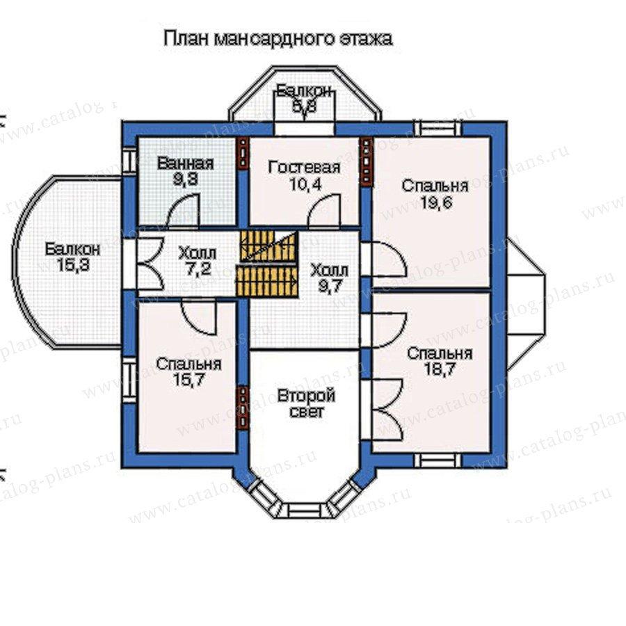 План 3-этажа проекта 52-60