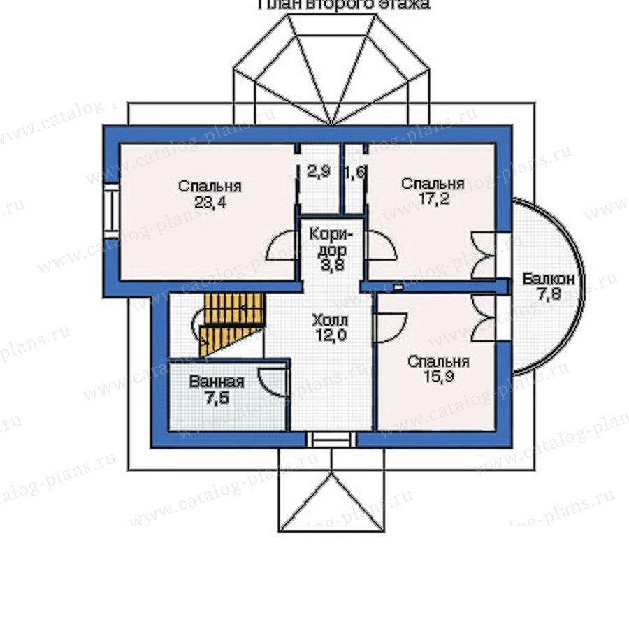 План 2-этажа проекта 52-62