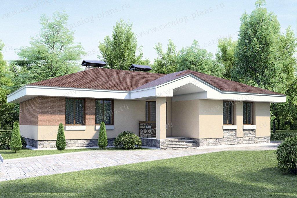 Проект жилой дом #52-93 материал - газобетон, стиль современный