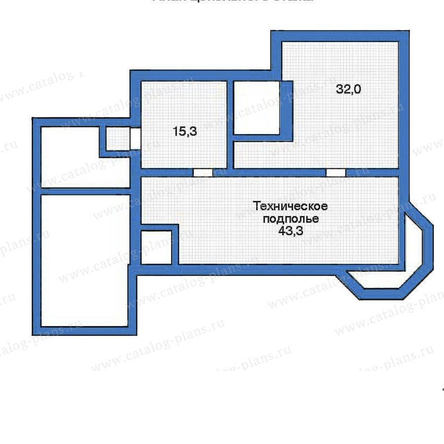 План 1-этажа проекта 52-21