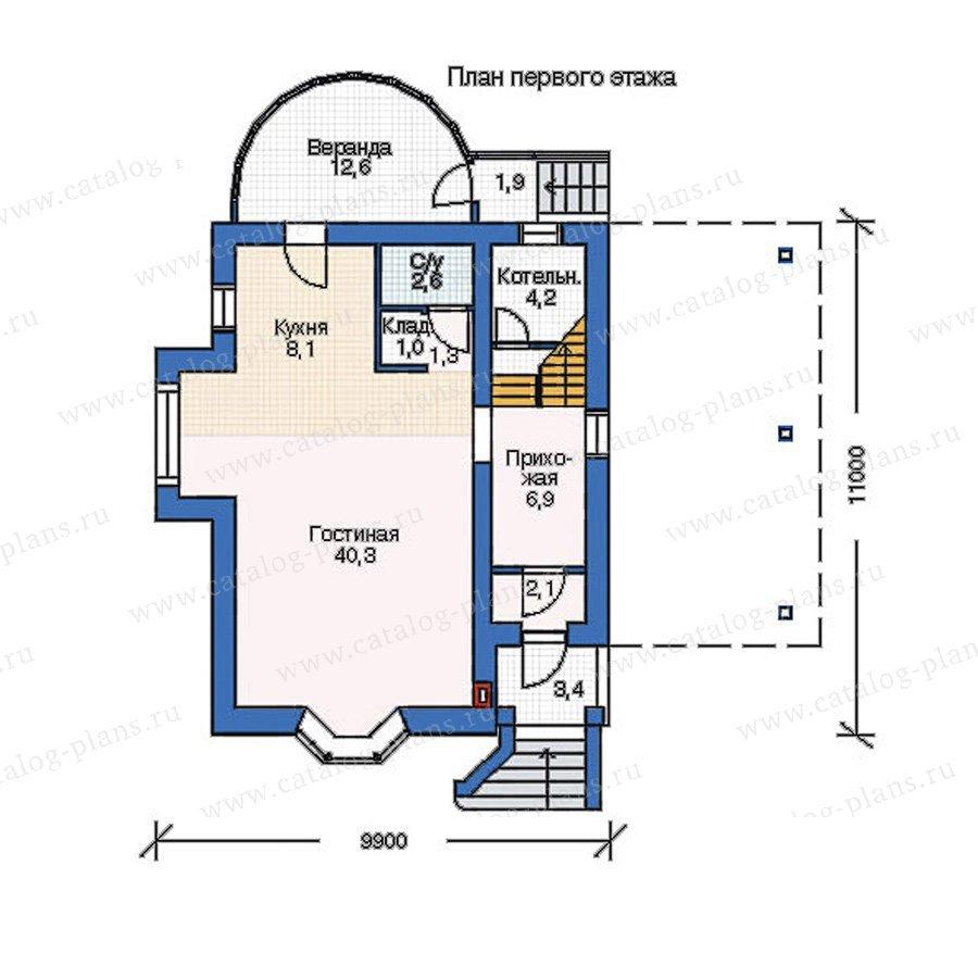 План 1-этажа проекта 52-34