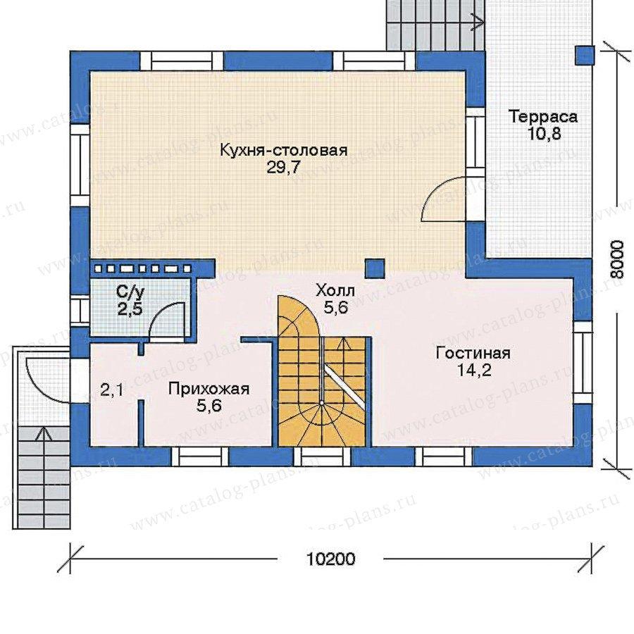 План 2-этажа проекта 52-53