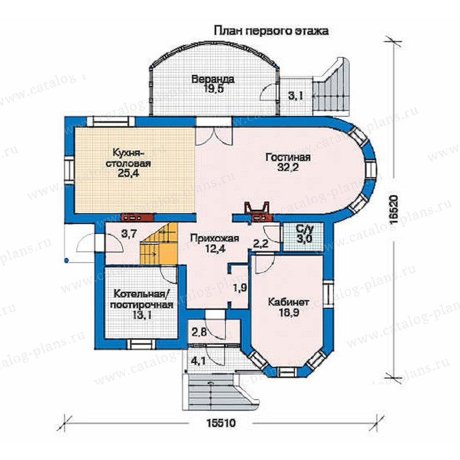 План 1-этажа проекта 52-28