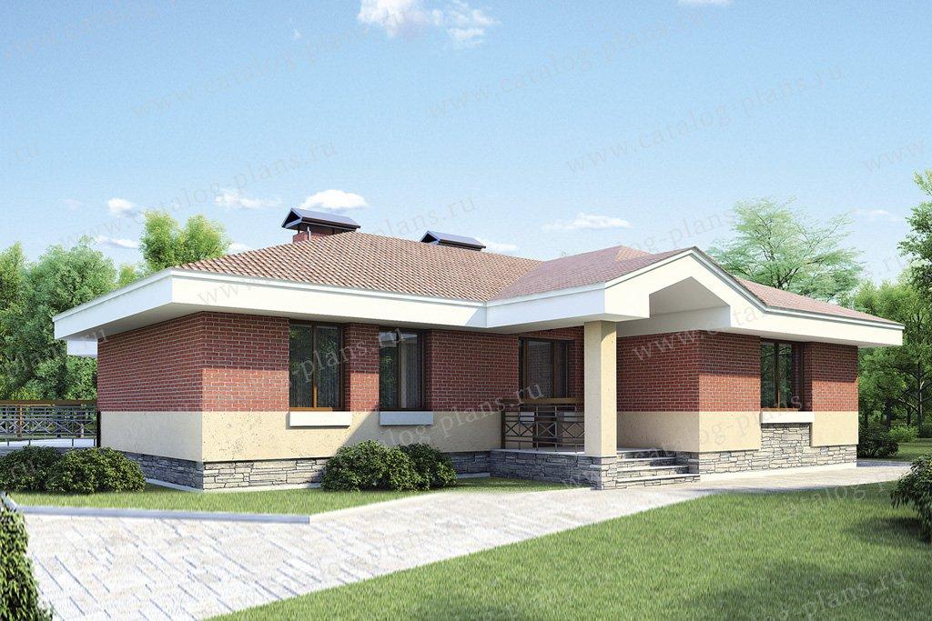 Проект жилой дом #52-94 материал - газобетон, стиль современный