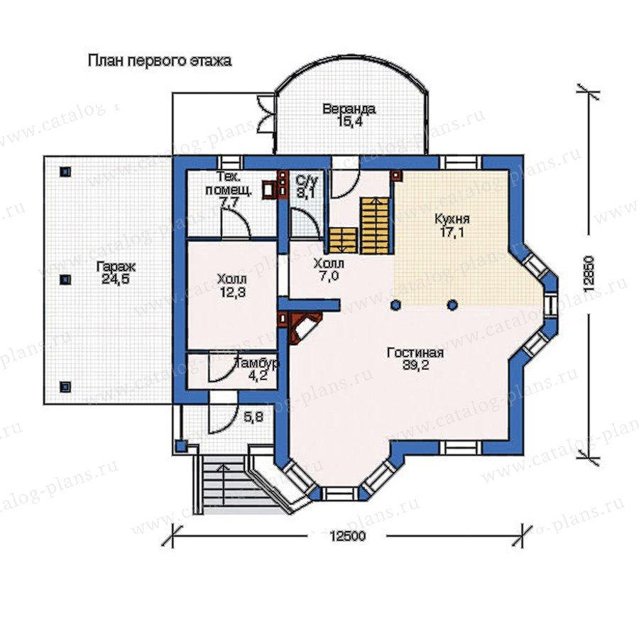 План 1-этажа проекта 52-44