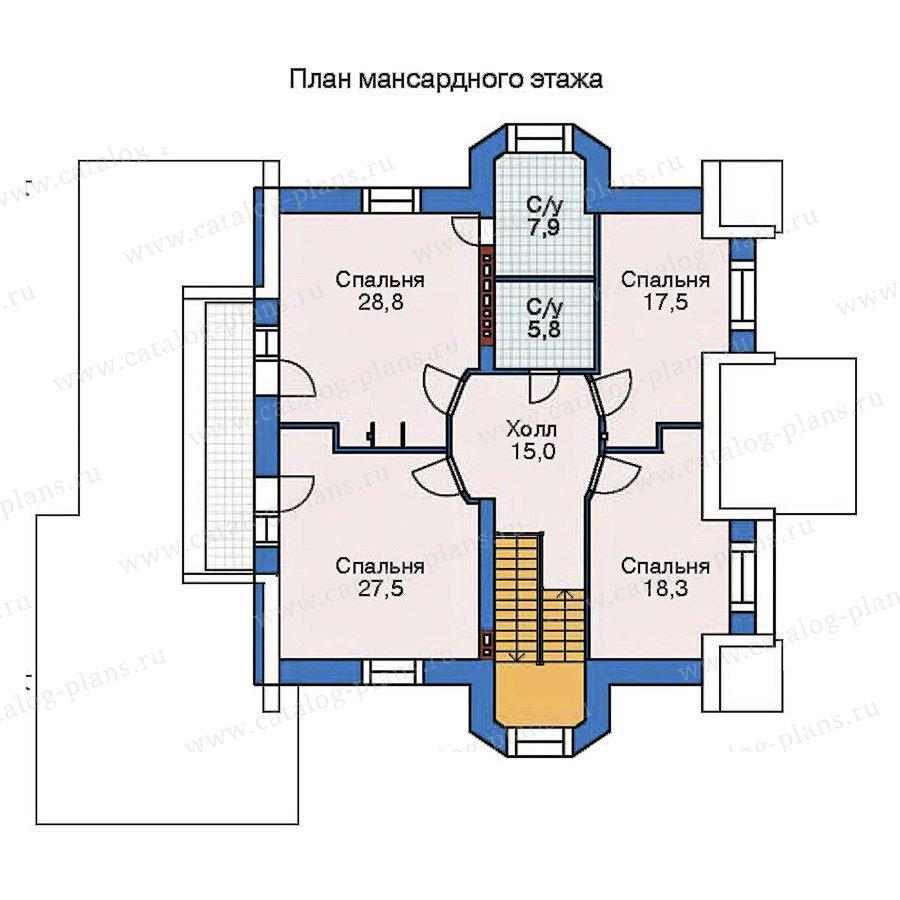 План 3-этажа проекта 52-22