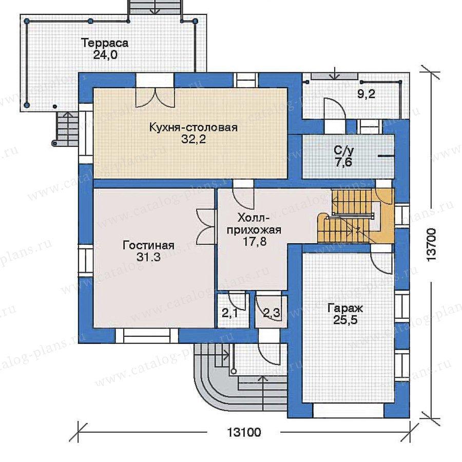 План 2-этажа проекта 52-18