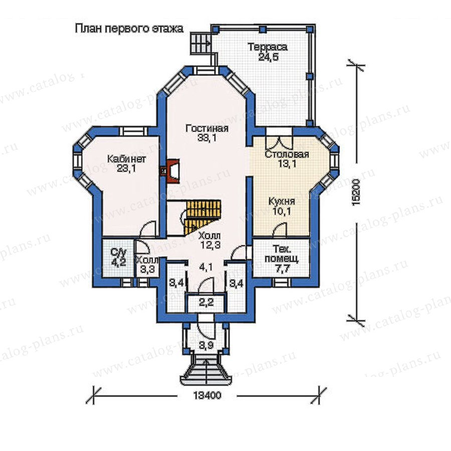 План 1-этажа проекта 52-64