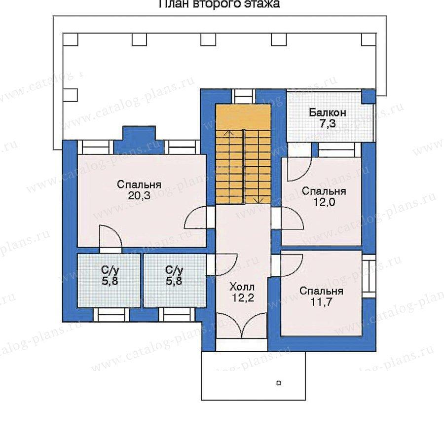 План 2-этажа проекта 52-26